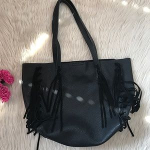 Shiraleah Chicago vegan leather fringe satchel.